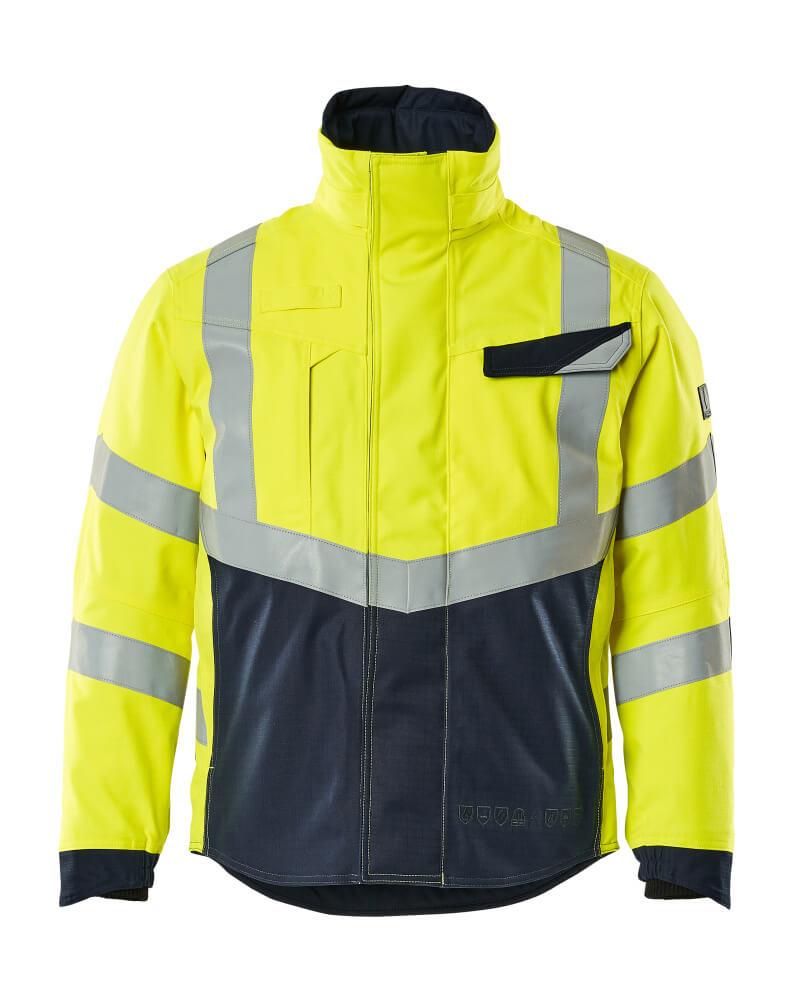 19835-217-17010 Winter Jacket - hi-vis yellow/dark navy