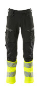 19879-711-01017 Pants with kneepad pockets - dark navy/hi-vis yellow