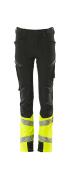 19979-311-0917 Pants for children - black/hi-vis yellow