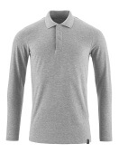 20483-961-08 Polo Shirt, long-sleeved - grey-flecked