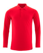 20483-961-202 Polo Shirt, long-sleeved - traffic red