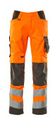 20879-236-1418 Pants with kneepad pockets - hi-vis orange/dark anthracite