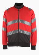 50116-950-A49 Sweatshirt with zipper - hi-vis red/dark anthracite
