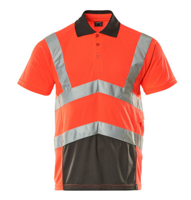 50117-949-A49 Polo Shirt - hi-vis red/dark anthracite