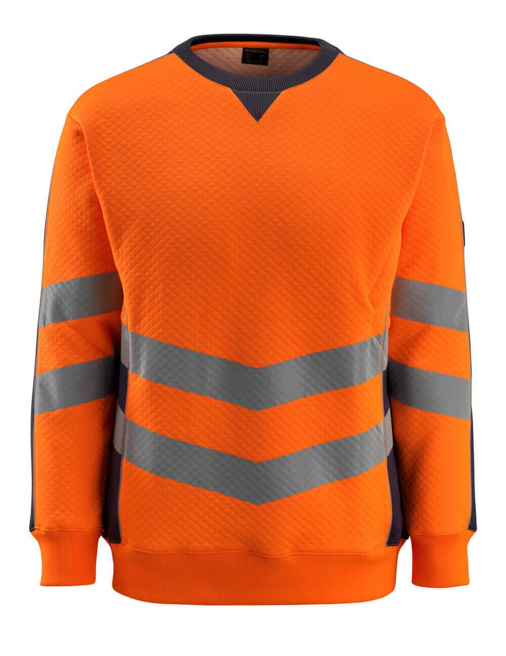 50126-932-14010 Sweatshirt - hi-vis orange/dark navy