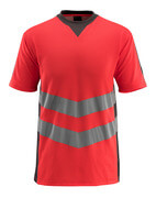 50127-933-22218 T-shirt - hi-vis red/dark anthracite
