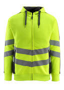 50138-932-1709 Hoodie with zipper - hi-vis yellow/black