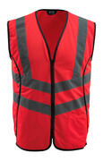 50145-982-222 Traffic Vest - hi-vis red