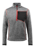 50149-951-08 Knitted Jumper with half zip - grey