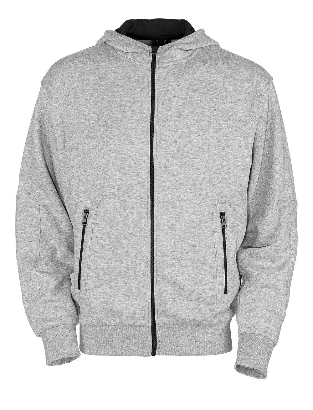 50423-191-08 Hoodie with zipper - grey-flecked