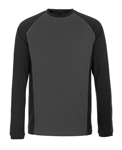 50504-250-1809 T-shirt, long-sleeved - dark anthracite/black