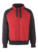 50566-963-0209 Hoodie with zipper - red/black