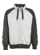 50566-963-0618 Hoodie with zipper - white/dark anthracite