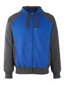 50566-963-11010 Hoodie with zipper - royal/dark navy