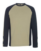 50568-959-5509 T-shirt, long-sleeved - light khaki/black