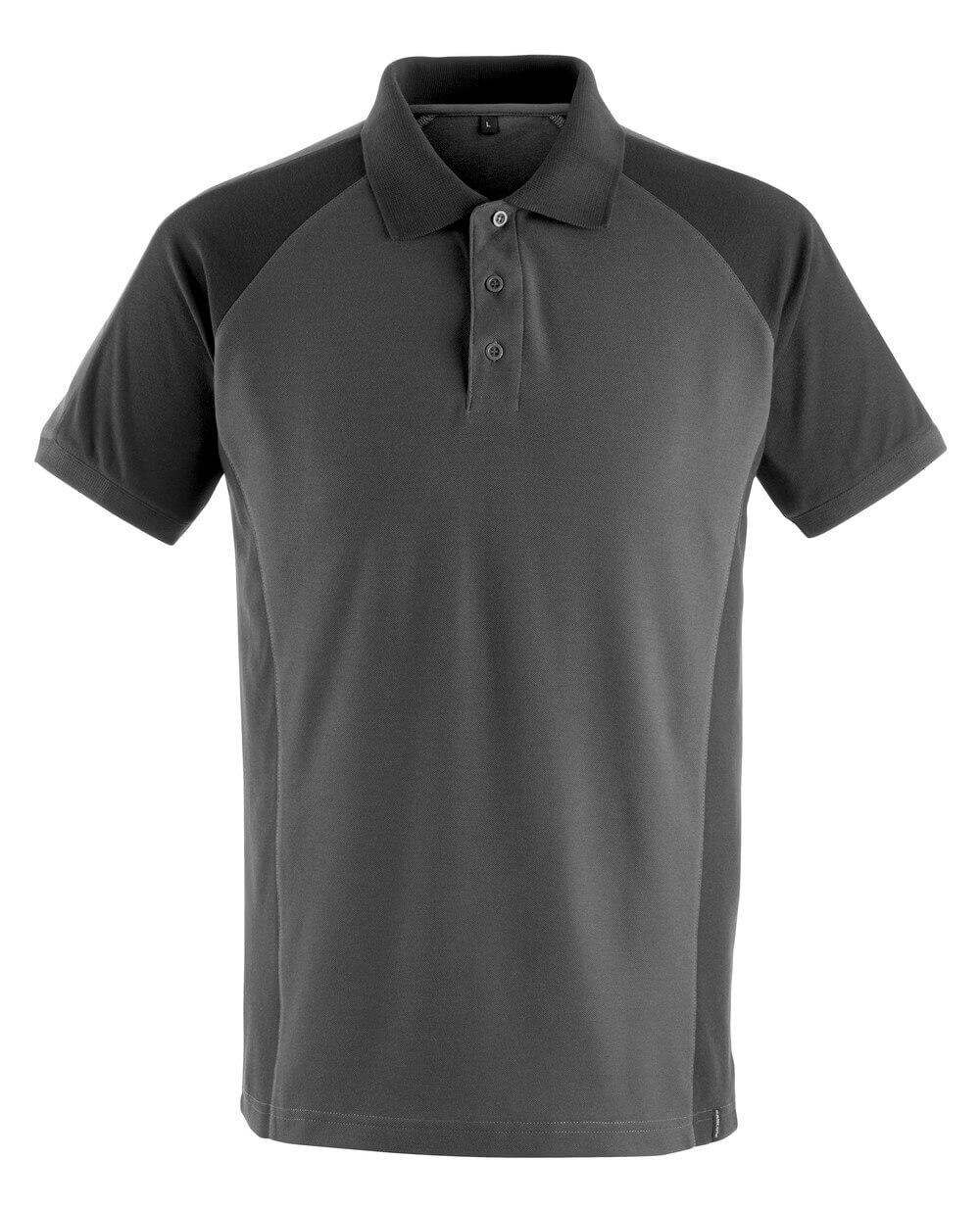 50569-961-1809 Polo shirt - dark anthracite/black
