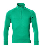 50611-971-333 Sweatshirt with half zip - grass green