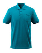 51586-968-93 Polo Shirt with chest pocket - petroleum