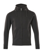51590-970-09 Hoodie with zipper - black