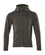 51590-970-18 Hoodie with zipper - dark anthracite