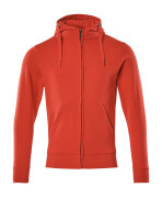 51590-970-202 Hoodie with zipper - traffic red