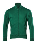 51591-970-03 Sweatshirt with zipper - green