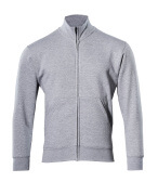51591-970-08 Sweatshirt with zipper - grey-flecked