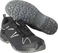 F0122-771-09880 Safety Shoe - Black/Silver